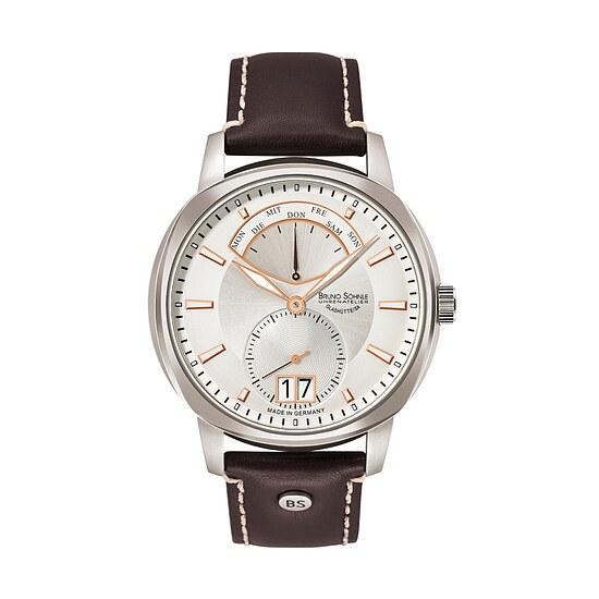 Glashütte Uhren-Serie 17-13155-245 Herrenuhr mit Grossdatum Facetta