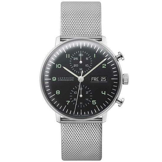 Junghans Uhren-Kollektion 027/4500.44 max bill Chronoscope