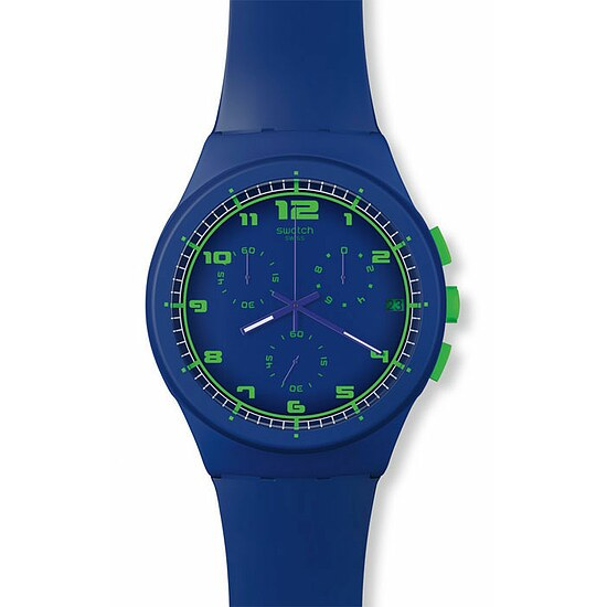 Swatch SUSN 400 New Chrono Plastic Collection Blue C