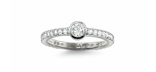 Thomas Sabo TR1984-051-14 GLAM & SOUL Silver Ring Kristalle weiß