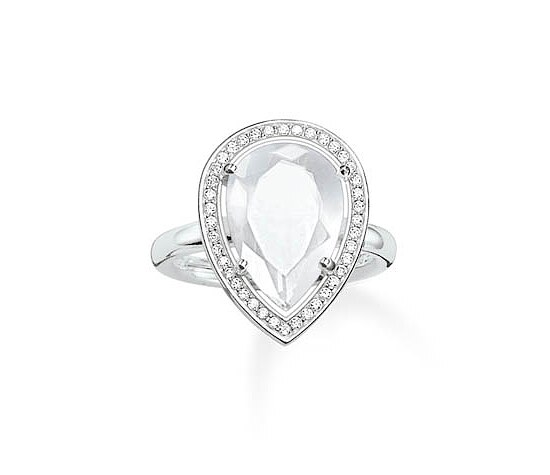 Thomas Sabo TR2043-690-14 GLAM & SOUL Silver Ring BEAUTY OF THE MAHARANI weiß