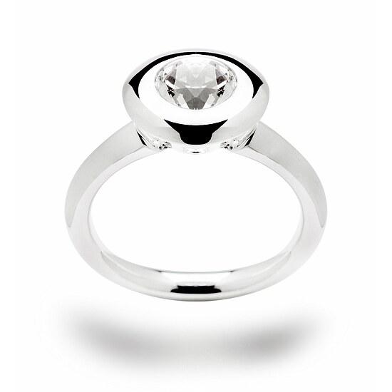 Bastian 11850 Inverun Silber Ring Weißer Topas