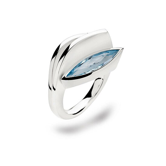 Bastian 12088 Inverun Silber Ring Blautopas