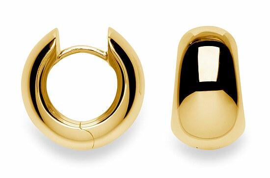 Bastian 3501280050 Inverun Silber Creolen vergoldet poliert Ø 1,5 cm