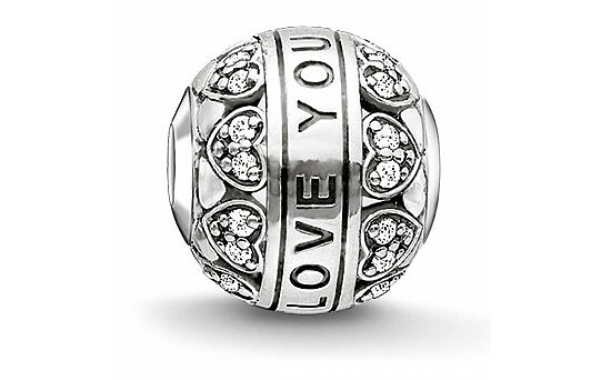 Thomas Sabo K0211-643-14 KARMA BEADS Silver Bead I LOVE YOU