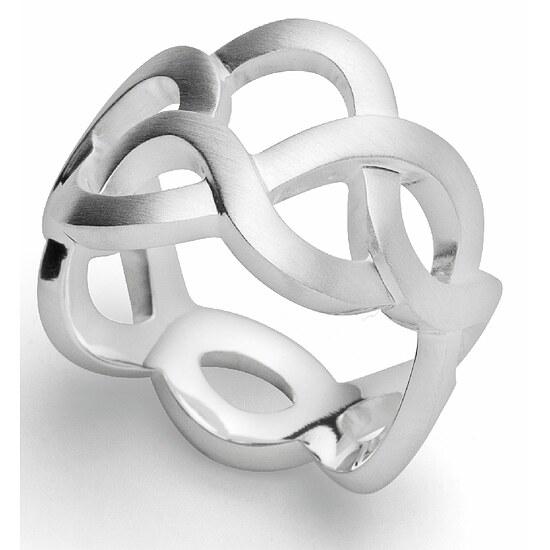 Bastian 12908 Inverun  Silber Ring matt - 56
