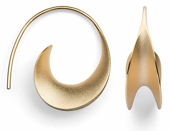 Bastian   12921 Inverun Silber Creolen sandmatt golden