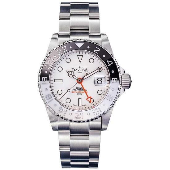Herrenuhr von Taucher Automatik Ternos Professional GMT Black&White 16157115