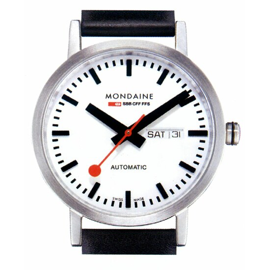 Image of Mondaine CLASSIC AUTOMATIC DAY DATE A132.30359.16SBB Herrenuhr