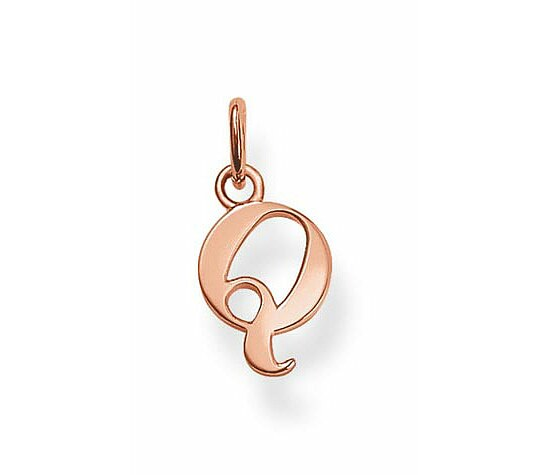 Thomas Sabo PE604-415-12 GLAM & SOUL Special Addition Silber Ösen-Anhänger Buchstabe Q roségold