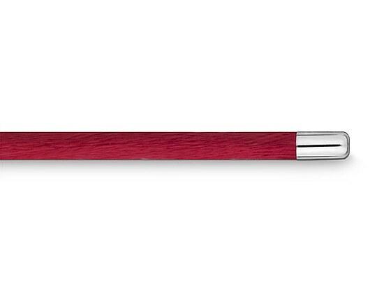 Quinn 027 2479 Halsband rot Seide mit Silber