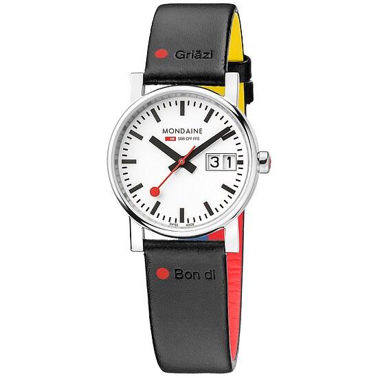 Mondaine Railways Watch EVO Grossdatum Damen A669.30305.11GOT bei Uhrendirect - Markenuhren