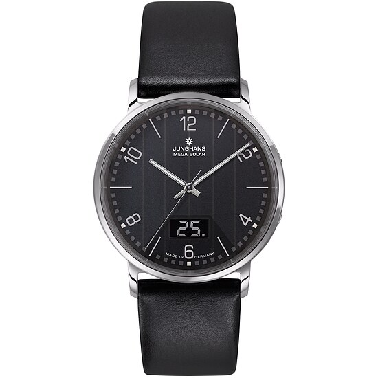 Junghans Herrenfunkuhr 056/4627.00 der Uhrenserie Milano Mega Sol bei Uhrendirect - Markenuhren