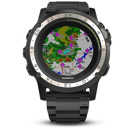 Garmin D2™ Charlie Aviator Watch Titanium Aviation GPS-Uhr Multisport GPS Smartwatch - Garmin 010-01733-33
