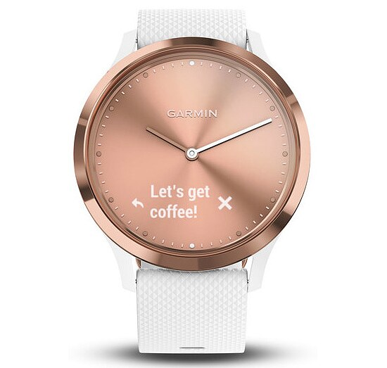 Garmin Fitness-Tracker Vivomove HR Sport Roségold/Weiss Conneted Watch - Garmin 010-01850-02