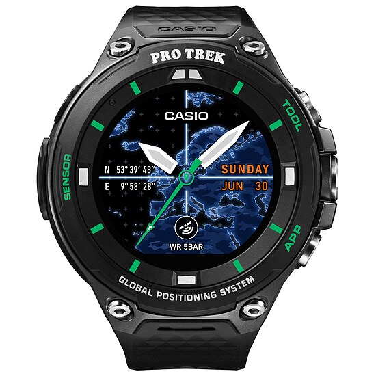 Casio Pro Trek Smart WSD-F20X-BKAAE Smart Outdoor Watch der Casio PRO TREK Serie Edition Schwarz/Grün