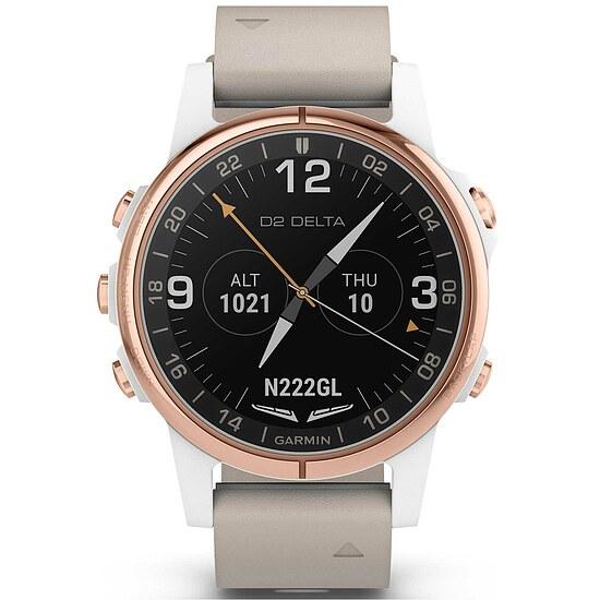 Garmin D2™ Delta S Sapphire Weiss Rosé - Aviation GPS-Uhr Multisport GPS Smartwatch - Garmin 010-01987-31