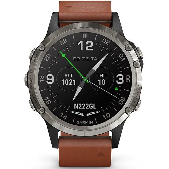 Garmin D2™ Delta Sapphire Silbern Titanium - Aviation GPS-Uhr Multisport GPS Smartwatch - Garmin 010-01988-31
