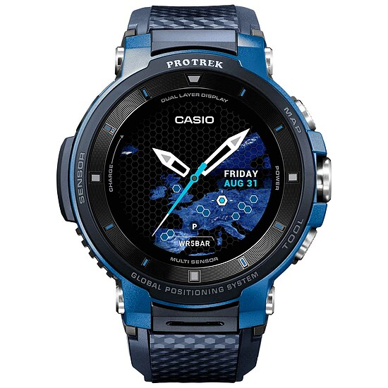 Casio Pro Trek Smart WSD-F30-BU Smart Outdoor Watch der Casio PRO TREK Serie Edition Blau