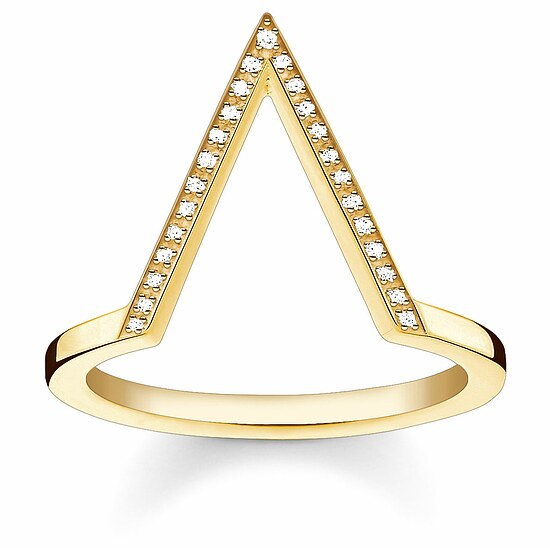 Thomas Sabo D_TR0020-924-14 GLAM & SOUL Silver gelbgold Ring TRIANGLE Diamonds Pavé weiß