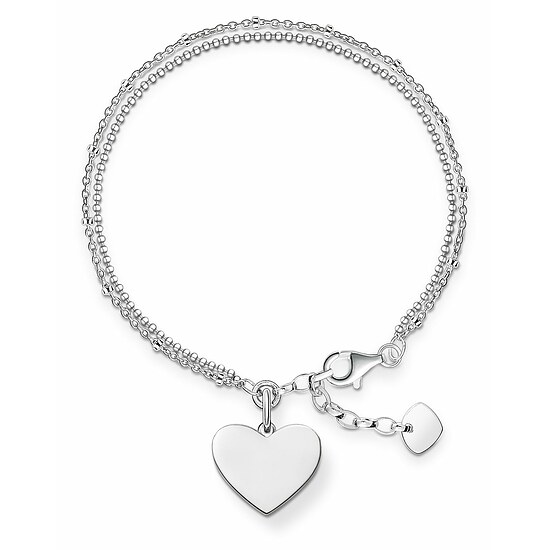 Thomas Sabo LBA0102-001-12-L19,5v LOVE BRIDGE Silver Armband Herz
