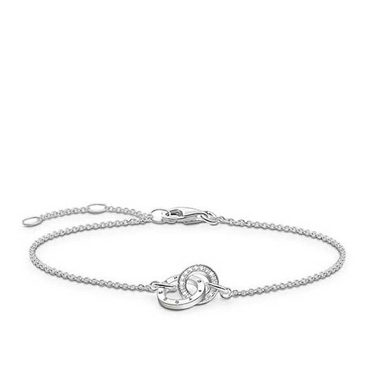 Thomas Sabo D_A0006-725-14 GLAM & SOUL Silver Armband TOGETHER FOREVER Diamant weiß 19,5 cm