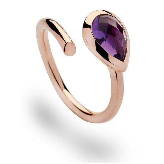 Bastian 12420 Inverun Silber rosé Ring Amethyst