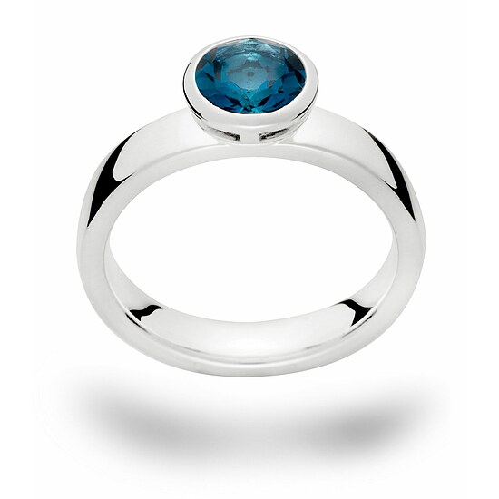 Bastian 12335 Inverun Silber Ring Topas London Blue