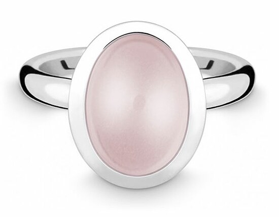 Quinn 021874730 Silber  Ring Colors poliert Rosa Quarz