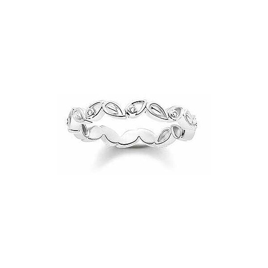 Thomas Sabo D_TR0024-725-21 GLAM & SOUL DIAMONDS Silver Ring Blätter
