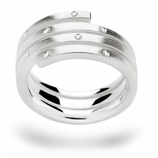 Bastian 12423 Inverun Silber Ring mattiert Diamanten