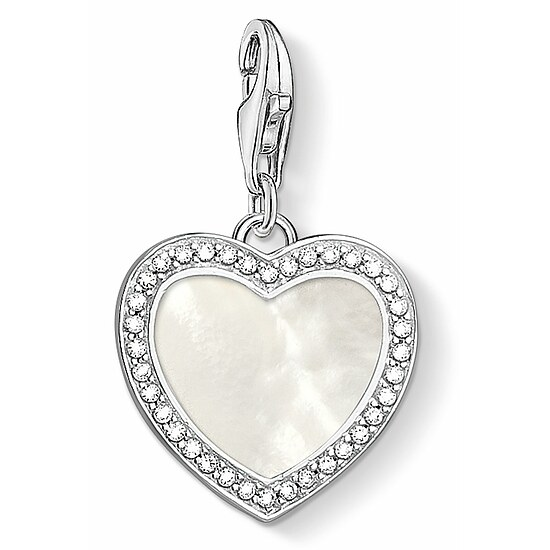 Thomas Sabo CC 1472-030-14 Anhänger Heart Heart Mother-of-Pearl CHARM CLUB Herz mit Perlmutt