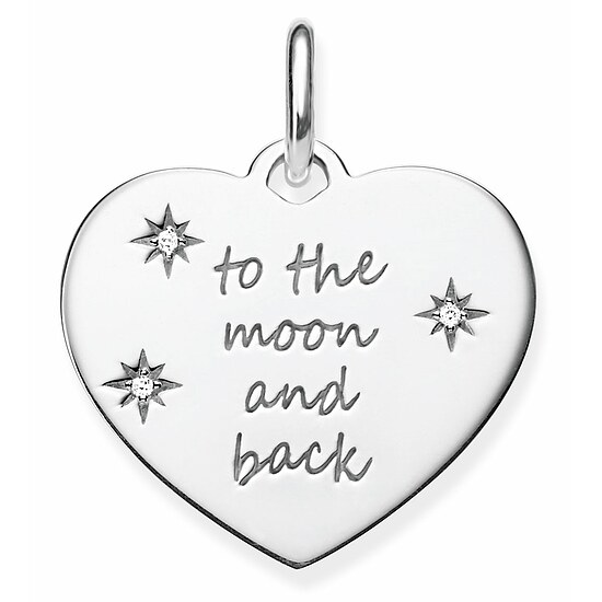 Thomas Sabo LBPE0020-051-21 LOVE BRIDGE Silver Anhänger Herz to the moon and back