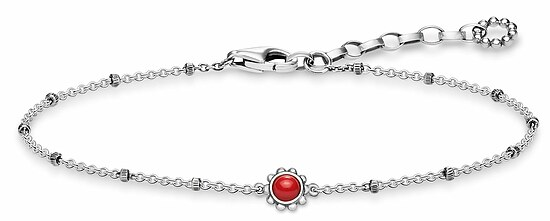 Thomas Sabo A1670-111-10 GLAM & SOUL Silver rosé Armband Ethno Rot 19 cm