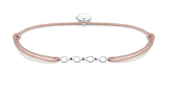 Thomas Sabo LS048-173-19 Carrier Charm-Armband Little Secret Herz Nylon beige 14 - 20 cm
