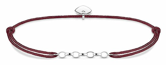 Thomas Sabo LS051-173-10 Carrier Charm-Armband Little Secret Herz Nylon rot 14 - 20 cm