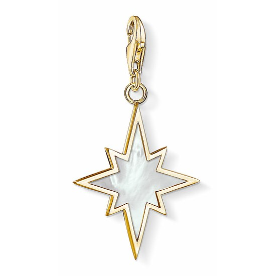 Thomas Sabo CC 1539-429-14 Anhänger Star CHARM CLUB Stern vergoldet Perlmutt