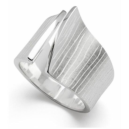 Bastian 12706 Inverun Silber Ring mattiert/gebürstet/poliert