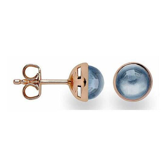 Bastian 12642 Inverun Silber Ohrstecker rosé  Topas London Blue
