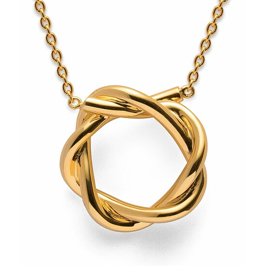 Bastian 12759 Inverun Silber golden Collier Infinite Twist  poliert