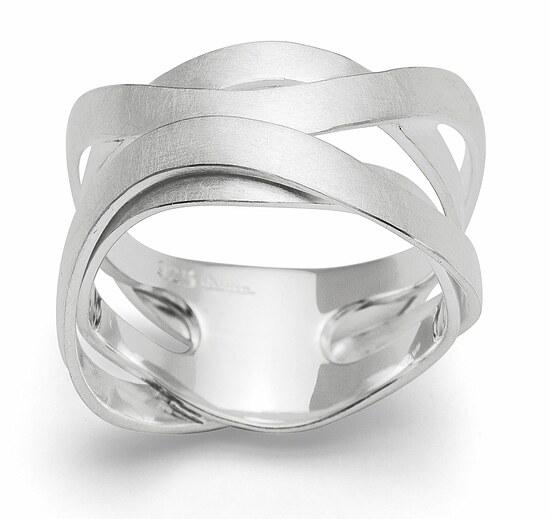 Bastian 12678 Inverun Silber Ring - 56