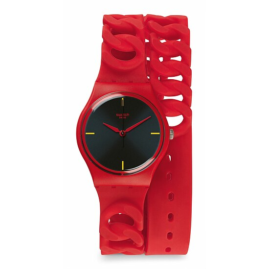 Swatch Uhr GR164 A WORLD IN COLORS Gent Cranberry Link