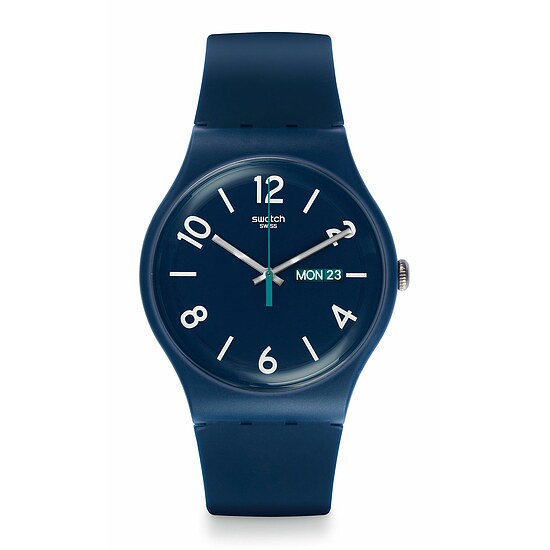 Swatch Uhr SUON705 A WORLD IN COLORS New Gent Backup Blue