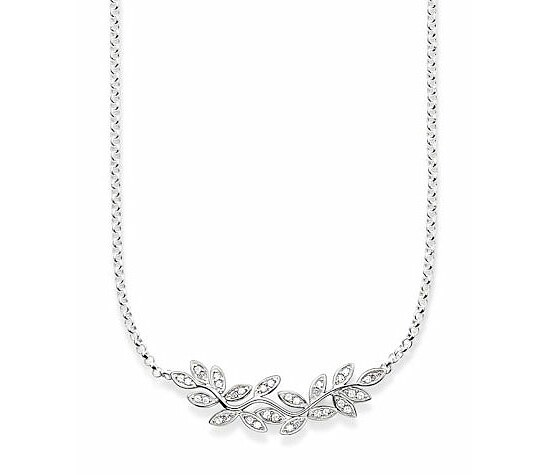 Thomas Sabo KE1313-051-14 GLAM & SOUL Silver Collier Blätter FAIRY TWINES Pavé weiß