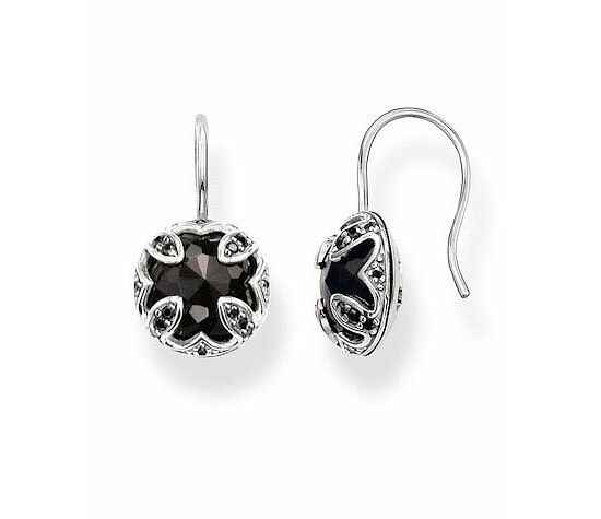 Thomas Sabo H1825-641-11 GLAM & SOUL Silver Brisur-Ohrringe Onyx THE PURITY OF LOTOS schwarz
