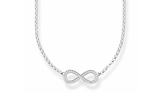 Thomas Sabo KE1312-051-14 GLAM & SOUL Silver Collier Unendlichkeit THE ETERNITY OF LOVE Pavé weiß