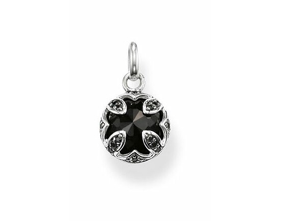 Thomas Sabo PE684-641-11 KARMA BEADS Silver Ösen-Anhänger The Purity of Lotos Onyx schwarz