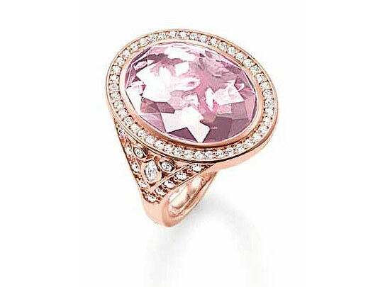 Thomas Sabo TR2022-633-9 GLAM & SOUL Silver Ring  roségold THE ETERNITY OF LOVE Korund pink - Pavé weiß
