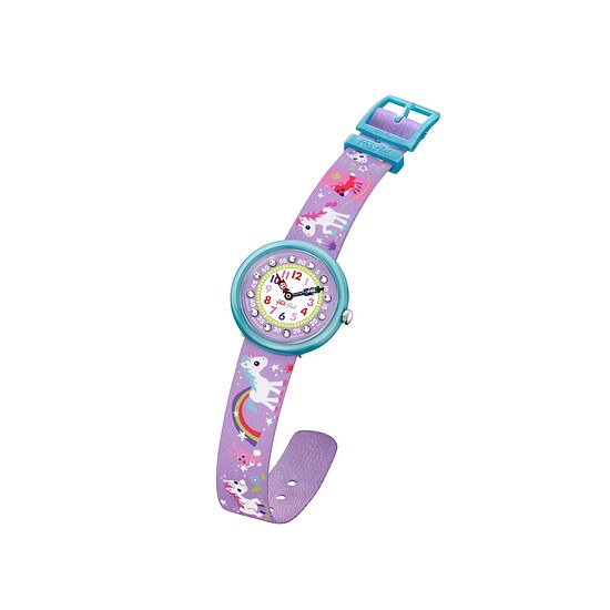 Flik Flak Uhren FBNP033 Girl Sunny Hours Kinderuhr Cute-Size (3+) Magical Unicorns Kristalle