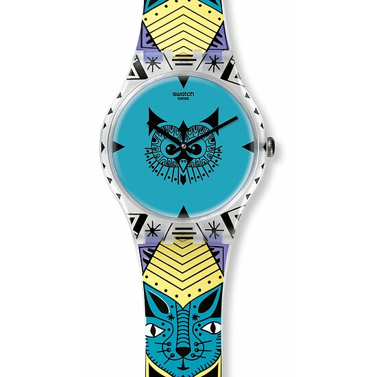 Swatch Uhr SUOZ191 MY PET & ME New Gent Wild Totem